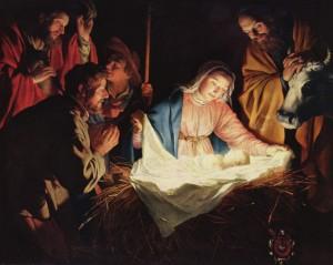 Adoración de los pastores, del pintor Gerard van Honthorst